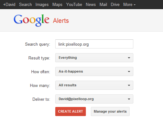 How to Check Your Backlinks with Google Alerts